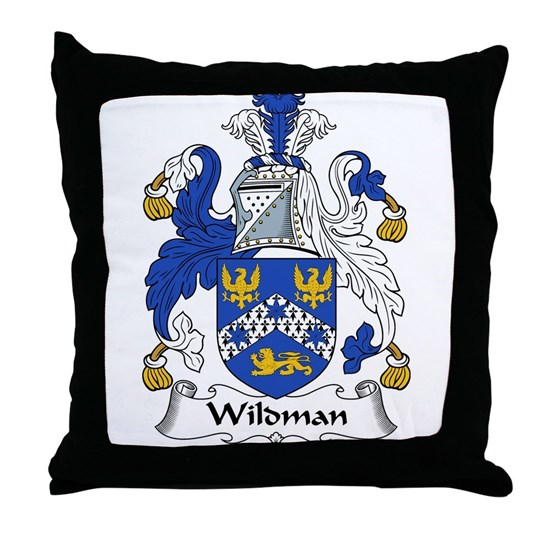 Wildman Family Crest Throw Pillow By Family Crests Cafepress