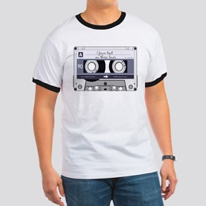 Customizable Cassette Tape - Grey Ringer T