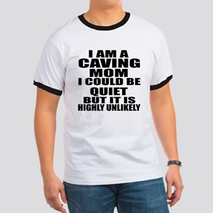 I Am A Caving Sports Designs Ringer T