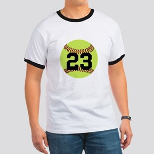 Softball Number Personalized Ringer T