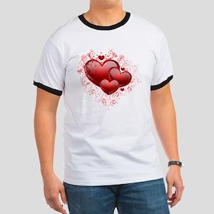 Floral Hearts Ringer T