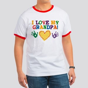 I Love My Grandpa Ringer T