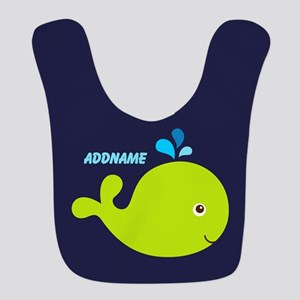 Navy Blue and Green Whale Personalized Polyester B