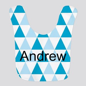 Blue Triangles Bib - Personalize