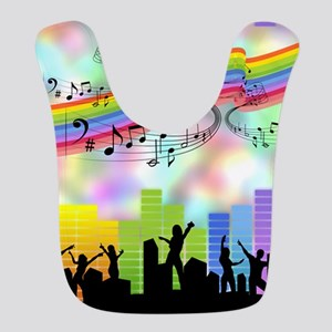 Colorful Musical Theme Bib