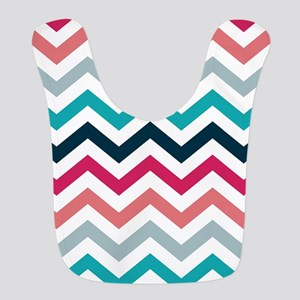 Pink & Blue Chevron Pattern Bib