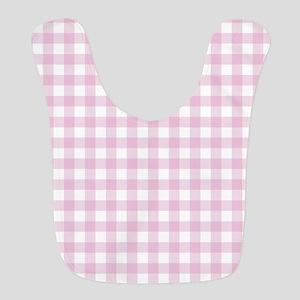 Gingham in pink Polyester Baby Bib