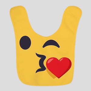 Winky Kiss Emoji Face Polyester Baby Bib