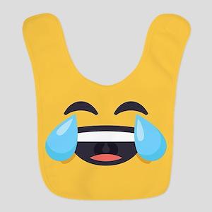 Cry Laughing Emoji Face Polyester Baby Bib