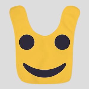 Smile Emoji Face Polyester Baby Bib
