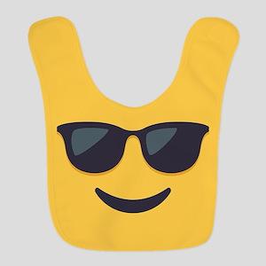Sunglasses Emoji Face Polyester Baby Bib