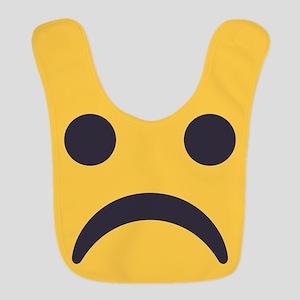Frowning Emoji Face Polyester Baby Bib