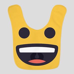 Happy Emoji Face Polyester Baby Bib