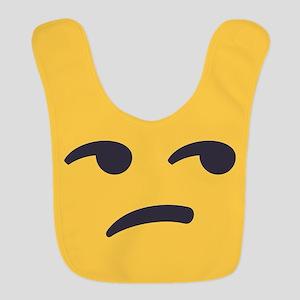Unamused Emoji Face Polyester Baby Bib