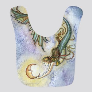 Deep Sea Moon Mermaid Fantasy Art Bib
