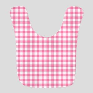 Pink Gingham Pattern Bib