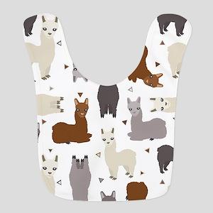 Alpaca Posse Pattern Polyester Baby Bib