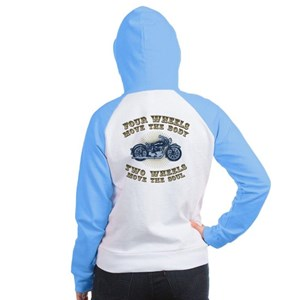 2 Wheels Move IV Women's Raglan Hoodie