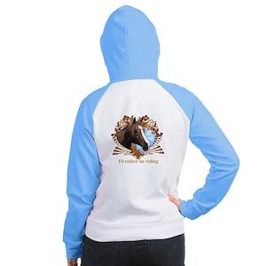 I'd Rather Be Riding Horses Women's Raglan Hoodie