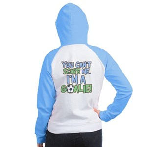 Can't Scare Goalie Women's Raglan Hoodie