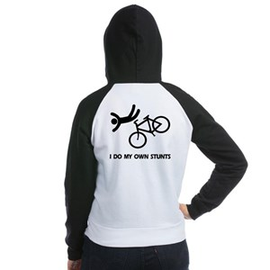 Bike, Bike, Funny Bike Stunts Women's Raglan Hood