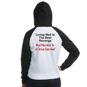 Twisted Imp Murder Is Second Women's Raglan Hoodie