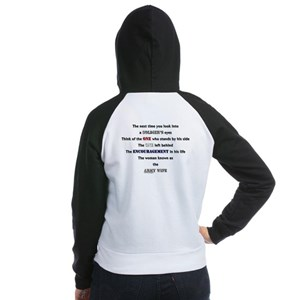 Soldier's Eyes:Army Wife Women's Raglan Hoodie
