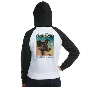 LAIKA Cosmonaut dog! Women's Raglan Hoodie