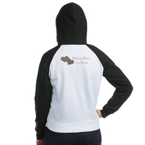 Half my Heart is in Korea Women's Raglan Hoodie