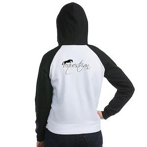equestrian w/jumping horse  Women's Raglan Hoodie