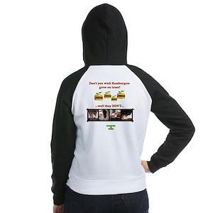 Don't you wish hamburgers gre Women's Raglan Hoodi