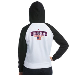 US(USA) United States Hockey Women's Raglan Hoodie