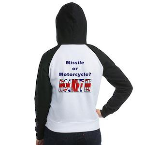 Missle or Motorcycle? Women's Raglan Hoodie