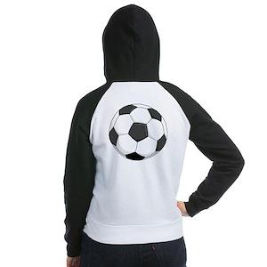 Soccer Ball Women's Raglan Hoodie