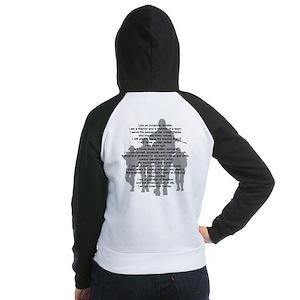 Soldier's Creed, National Gua Women's Raglan Hoodi
