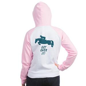 Get Over It Hunter Jumper Horse Women's Raglan Hoo