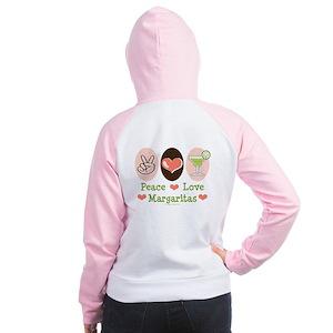 Peace Love Margarita Women's Raglan Hoodie