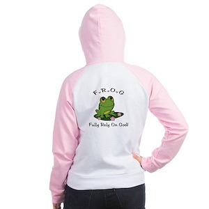 FROG Fully Rely On God Women's Raglan Hoodie