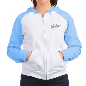 Runs with Kayaks Women's Raglan Hoodie