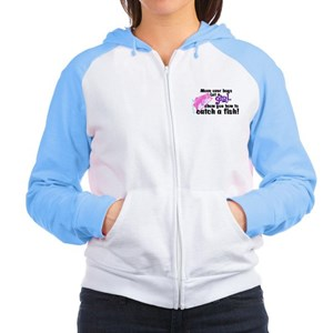 Move Over Boys - Fish Women's Raglan Hoodie