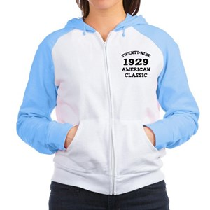 80th Birthday Women's Raglan Hoodie