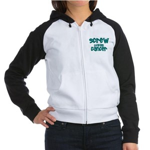 Screw Ovarian Cancer 1.3 Women's Raglan Hoodie