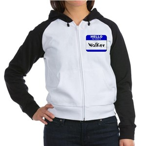 hello my name is walker Women's Raglan Hoodie