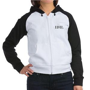 IDIL- I Dream In Lesbian Women's Raglan Hoodie