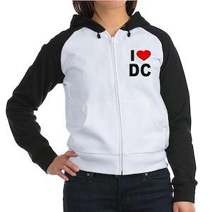 I Heart DC Women's Raglan Hoodie
