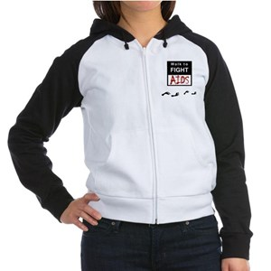 Aids Awareness Women's Raglan Hoodie