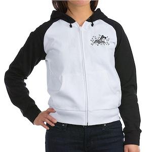 Women's Raglan Hoodie: Zebra