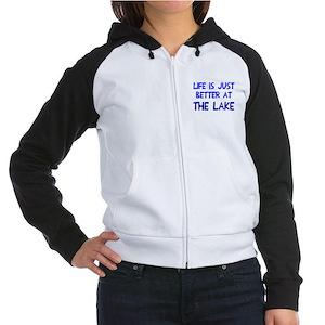 Life is just better lake Women's Raglan Hoodie