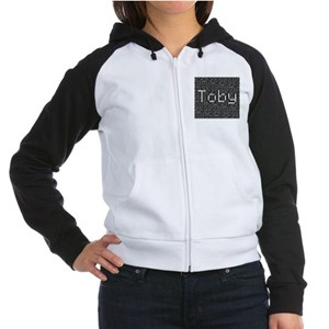 Toby, Binary Code Women's Raglan Hoodie