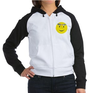 Swimmer Smiley / Eat my Bubbl Women's Raglan Hoodi